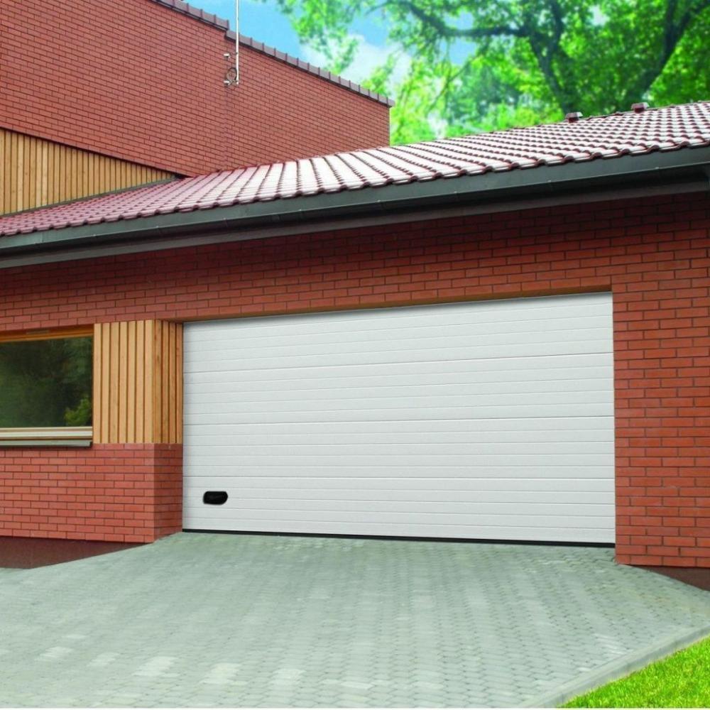 Секционные гаражные ворота Alutech Trend с торсионной пружиной шириной 2,8 м и высотой 2 м